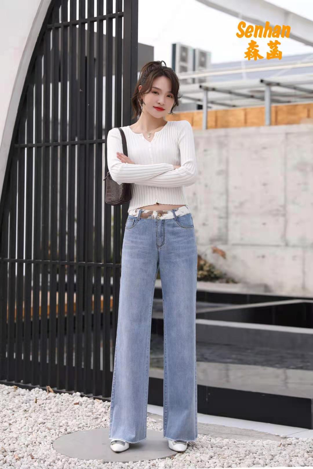 森菡 直筒显高牛仔裤(长裤) 1