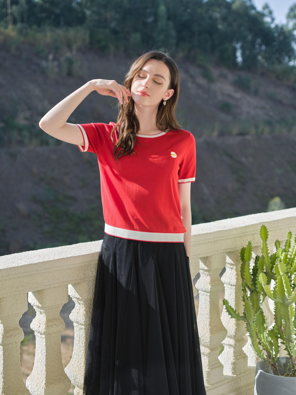 森菡 圆领针织衫(短袖) 3